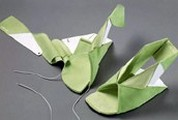 Origami cipők