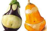 Bikinis zöldségek mint reklámmodellek