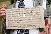 Megkerült Mozart kotta