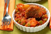 Krumplis, húsos egytálétel