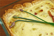 Spenótos, túrós quiche
