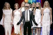 Lagerfeld 2009-ben is a soványságkultuszt éltette