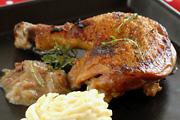 Almaborban sült csirke