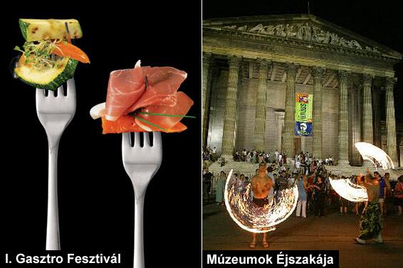 www.gasztrofesztival.com, www.muzeumokejszakaja.hu